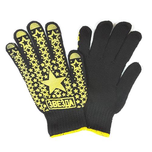 Тонкие шитые перчатки и облегающие руку вязаные трикотажные перчатки из хлопчатобумажной или нейлоновой нити. Нанесение на ладонь и пальцы дополнительных ПВХ точек значительно улучшает захват предметов.